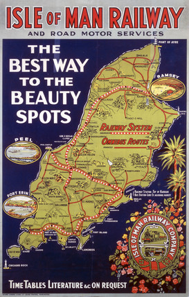 'The Best Way to the Beauty Spots', IMR poster, 1938.