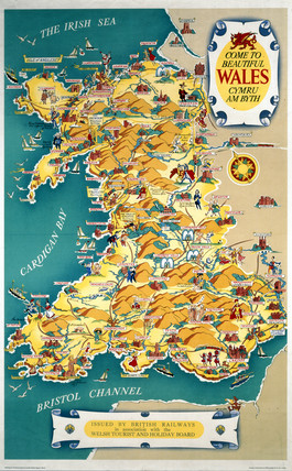 'Come to Beautiful Wales', BR (LMR) poster, 1948-1965.