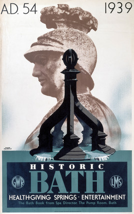 'Historic Bath', GWR/LMS poster, 1939.