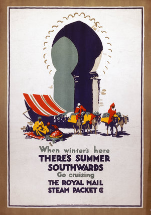 'When Winter's Here, There's Summer Southwards...', poster, c 1920-1940.
