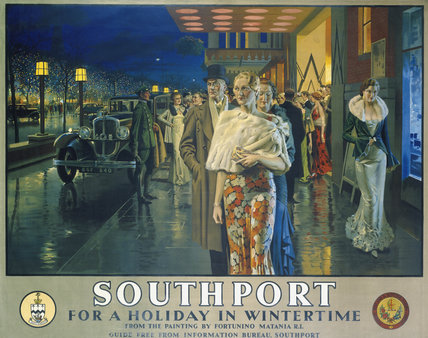 'Southport, For a Holiday In Wintertime', LMS poster, 1925.
