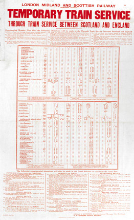 'Temporary Train Service', LMS poster, 1926.