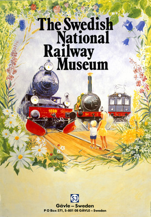 'The Swedish National Railway Museum' SNRM poster, 1984.