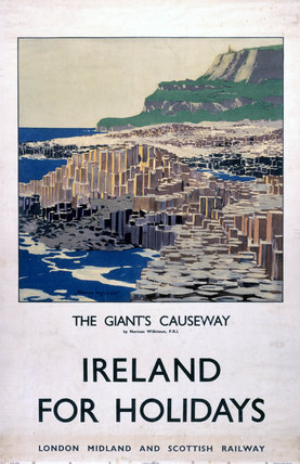 'Ireland for Holidays - The Giant's Causeway', LMS poster, 1923-1947.