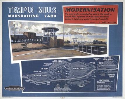 'Modernisation - Temple Mills', BR poster, 1948-1965.