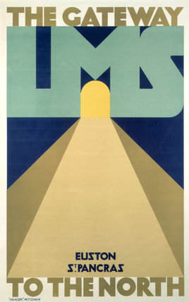 'LMS - The Gateway to the North', LMS poster, 1923-1947.