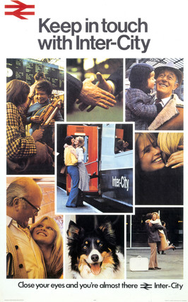 'Keep in Touch with Inter-City', BR poster, 1974.