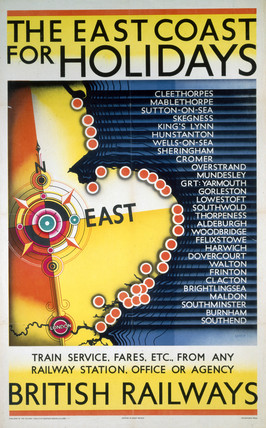 'The East Coast for Holidays', BR poster, 1948-1965.