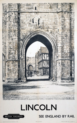 'Lincoln - Exchequer Gate', BR (ER) poster, 1948-1965.