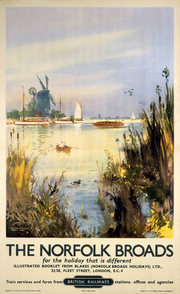 'The Norfolk Broads', BR poster, 1948-1965.