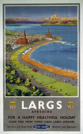 'Largs', BR poster, c 1950s.