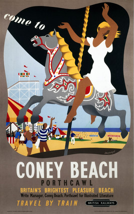 'Come to Coney Beach, Porthcawl', BR (WR) poster, 1948-1965.