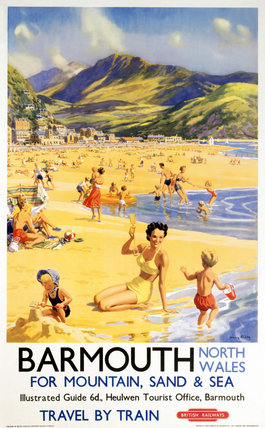 'Barmouth', BR poster, 1956.