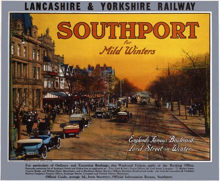 'Southport for Mild Winters', LYR poster, c 1915-1923.