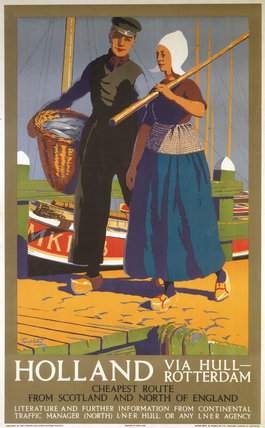 'Holland via Hull-Rotterdam', LNER poster, 1923-1947.
