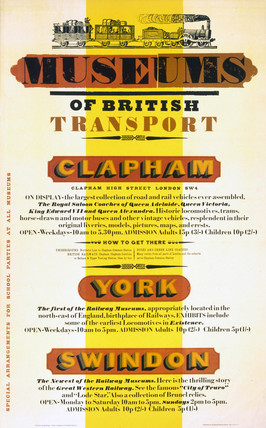 'Museums of British Transport', BR poster, 1971.