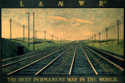 'The Best Permanent Way in the World', LNWR poster, 1923-1947.