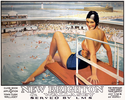 'New Brighton and Wallasey', LMS poster, 1923-1947.