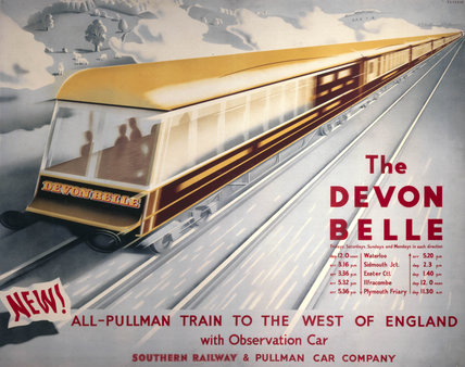 'The Devon Belle', SR poster, 1947.