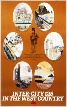 'Inter-City 125 in the West Country', BR (WR) poster, c 1970-1979.