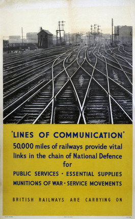 'Lines of Communication', BR poster, c 1950.