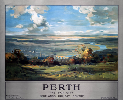 'Perth - The Fair City', Perth Council (LMS) poster, 1923-1947.