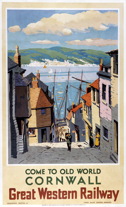 'Come to Old World Cornwall', GWR poster, 1924-1947