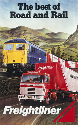 'Freightliner - The Best of Road and Rail', BR poster, 1980.