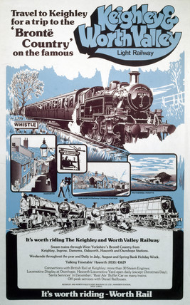 Keighley & Worth Valley Light Railway, poster, c 1970s.