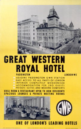 'Great Western Royal Hotel', GWR poster, 1923-1947.