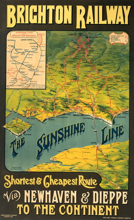 'The Sunshine Line', LBSCR poster, 1914.