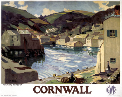 'Cornwall - Polperro Harbour', GWR poster, 1923-1947.