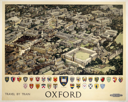 Oxford, BR (WR) poster, c 1950s. Produced f