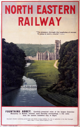 'Fountains Abbey', NER poster, 1900-1922.