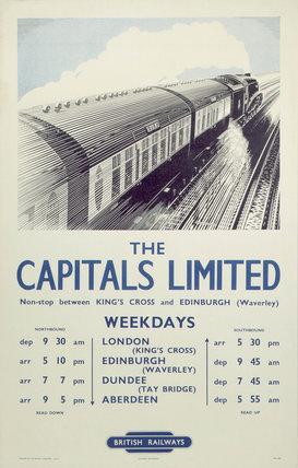 'The Capitals Limited', BR poster, 1950.