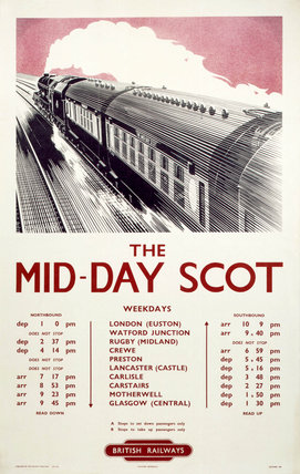 'The Mid-Day Scot', BR poster, 1950.