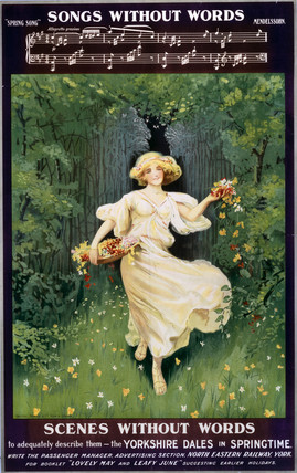'Songs without Words, Scenes without Words', NER poster, 1900-1922.
