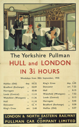 'The Yorkshire Pullman', LNER/Pullman Car Company Limited poster, 1935.