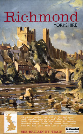 'Richmond, Yorkshire', BR (NER) poster, 1962.