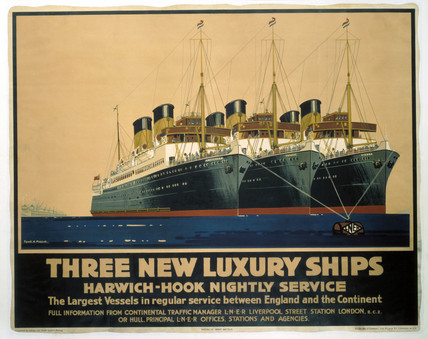 'Three New Luxury Ships', LNER poster, 1935.