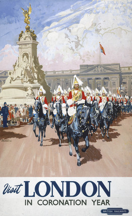 'Visit London in Coronation Year', BR poster, 1953.