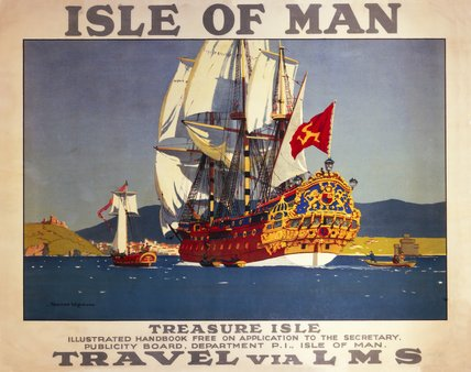 'Isle of Man - Treasure Isle', LMS poster, 1923- 1947.