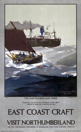 'East Coast Craft; The Northumberland Coble', LNER poster, 1923-1947.
