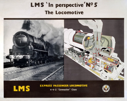 'In Perspective, No 5', LMS poster, 1923-1947.