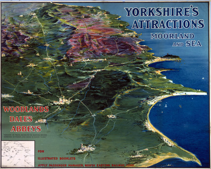 'Yorkshire's Attractions - Moorland and Sea', NER poster, 1900-1922.