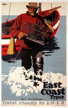 'The Lobsterman', LNER poster, 1923- 1947.