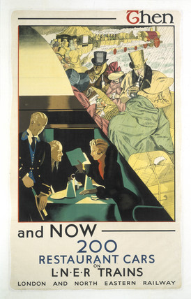 'Then and Now', LNER poster, 1923-1947.