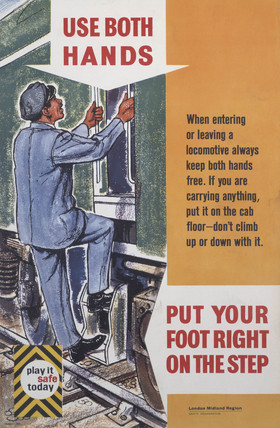BR staff safety poster, 1960.