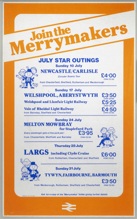 Join the Merrymakers - July Star Outings', BR poster, 1977.
