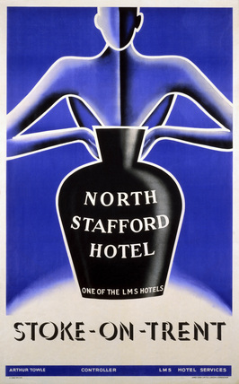 'North Stafford Hotel', LMS poster, 1923-1947.